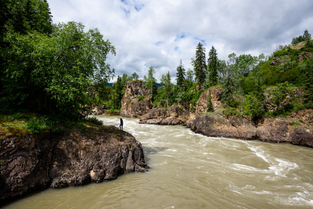 Moricetown Canyon on the Bulkley River near Smithers.