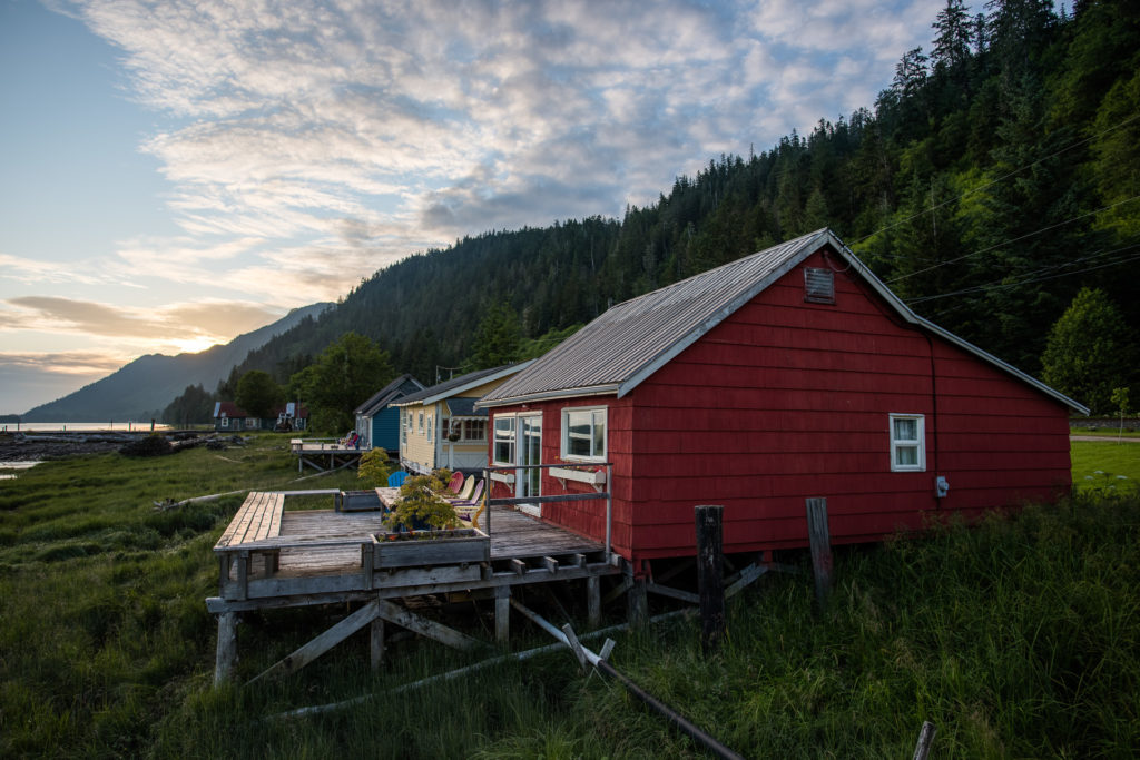Colourful cabins at Cassiar Cannery in Port Edward.