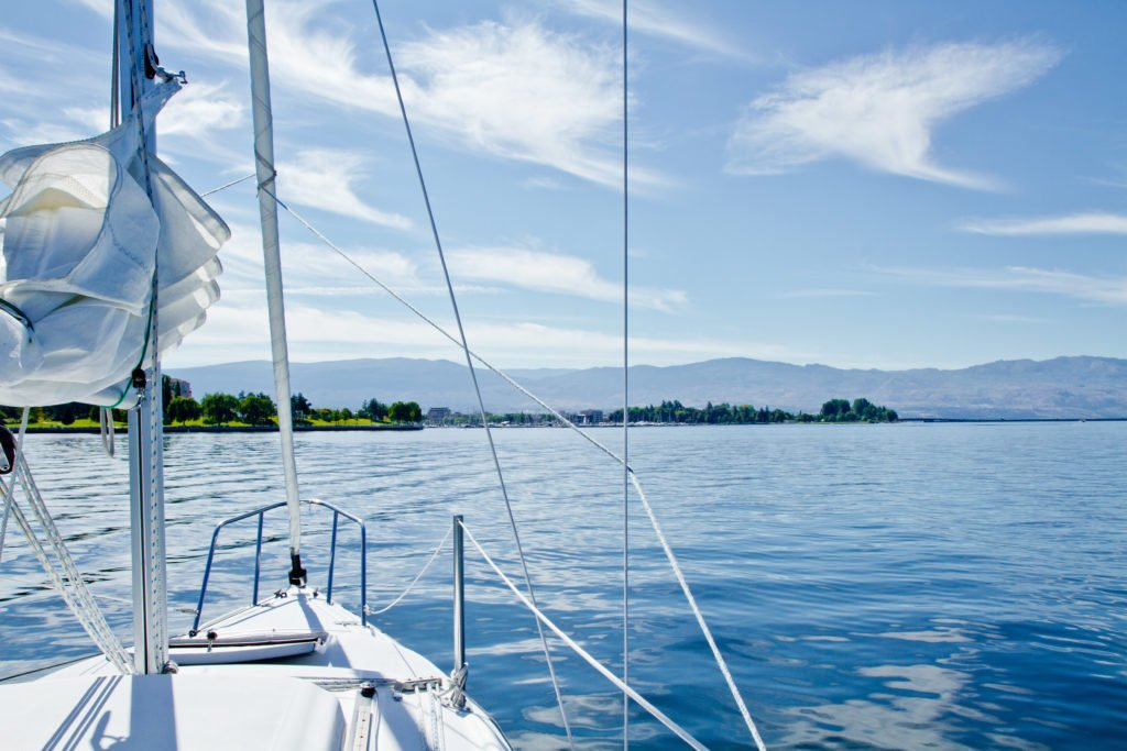 Sailing on Okanagan Lake.