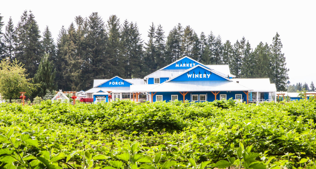 Langley's Krause Berry Farm cafe, market, and winery