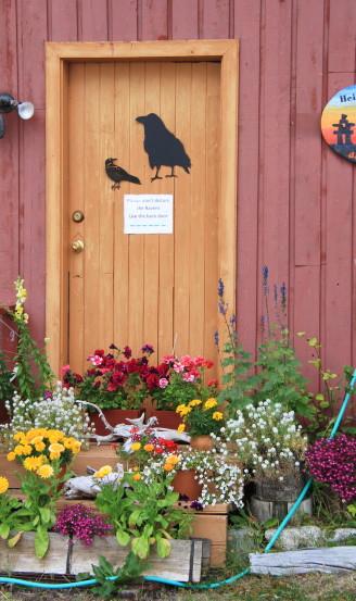 Colourful doorway in Atlin, BC