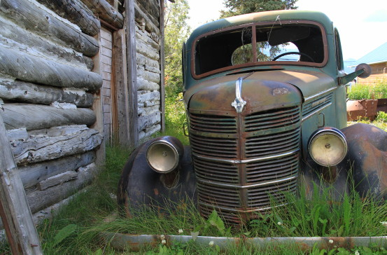 International pickup at the Atlin Museum, BC