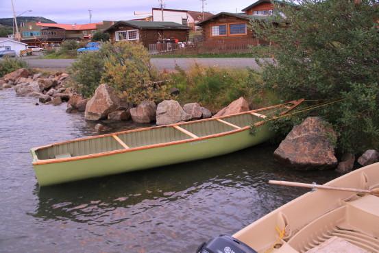Classic Chestnut canoe in Atlin, BC