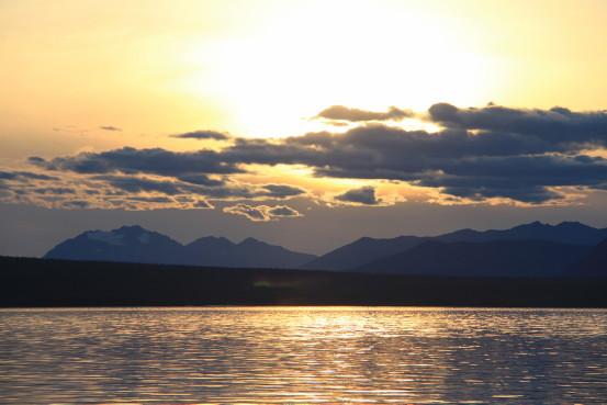 Sunset over Atlin Lake, BC.