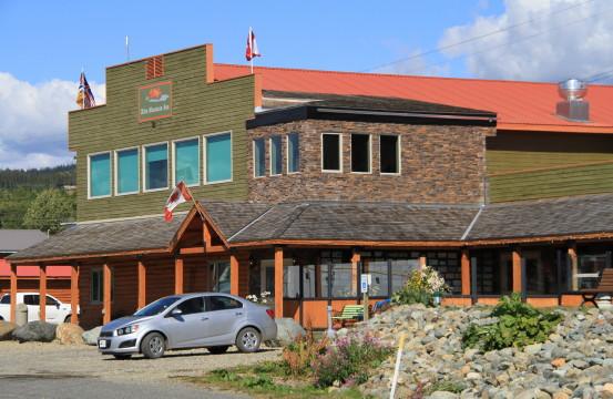 Exterior of the Atlin Mountain Inn, BC