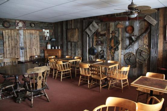 Interior of the Atlin Mountain Inn, BC.