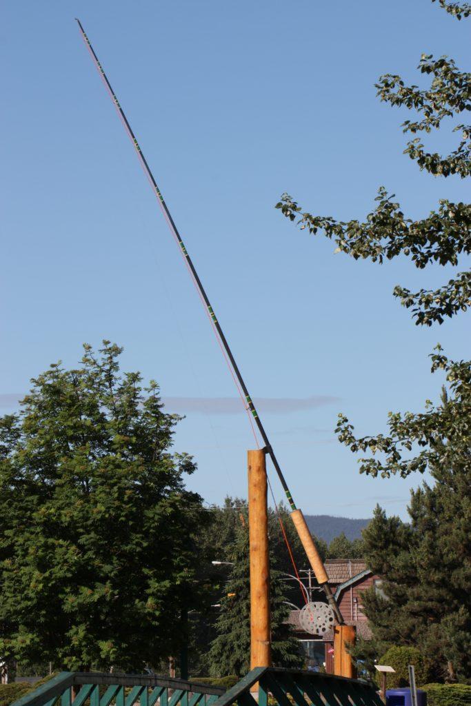 A 60-foot long fishing rod.