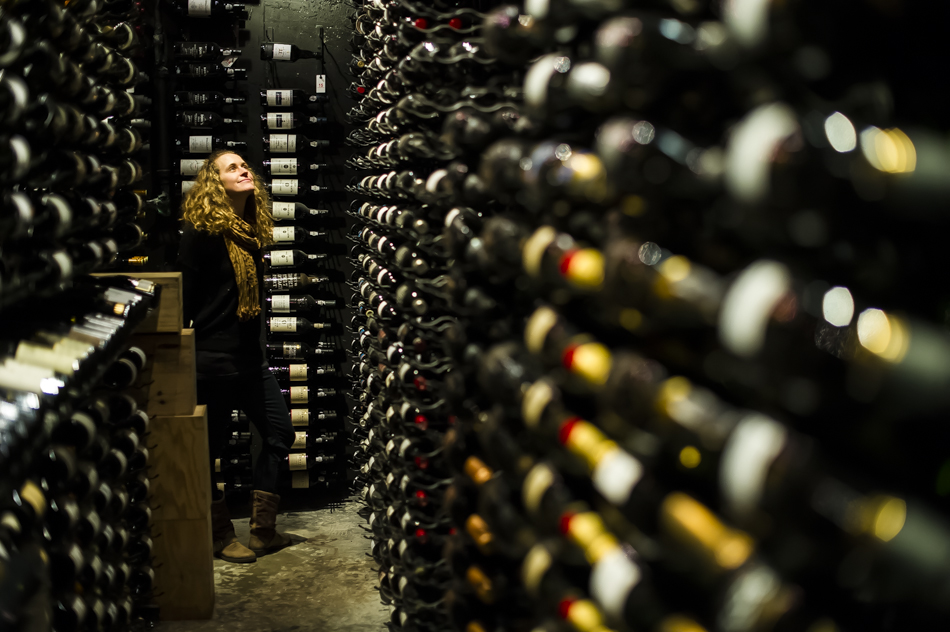 Wine collection at Bearfoot Bistro. Photo: Bruno Long