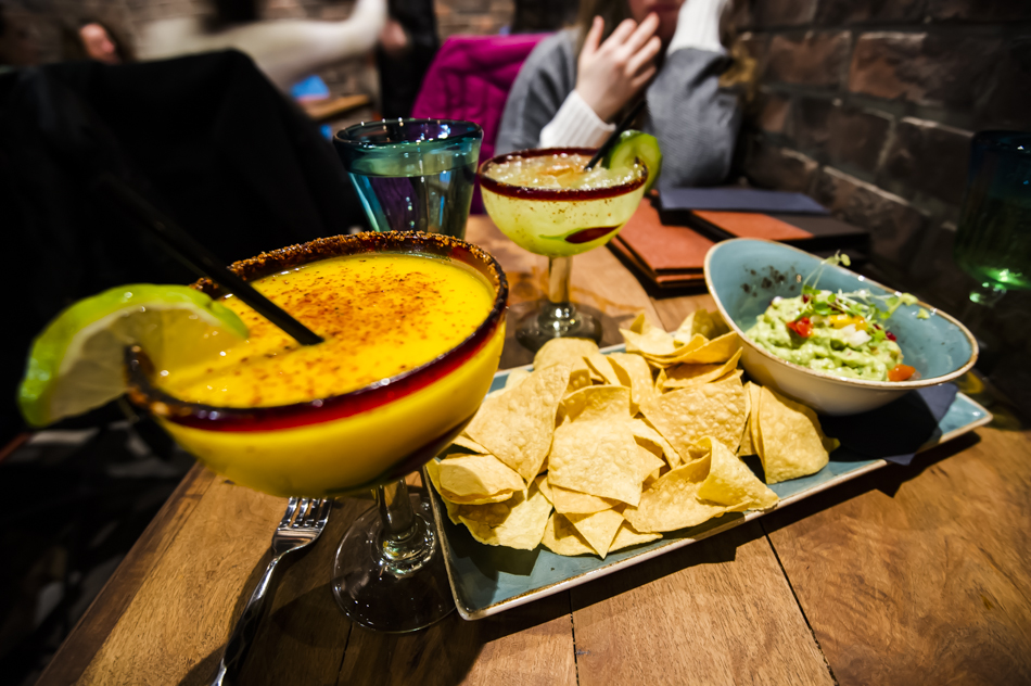 Dinner at the Mexican Corner in Whistler, BC. Photo: Bruno Long