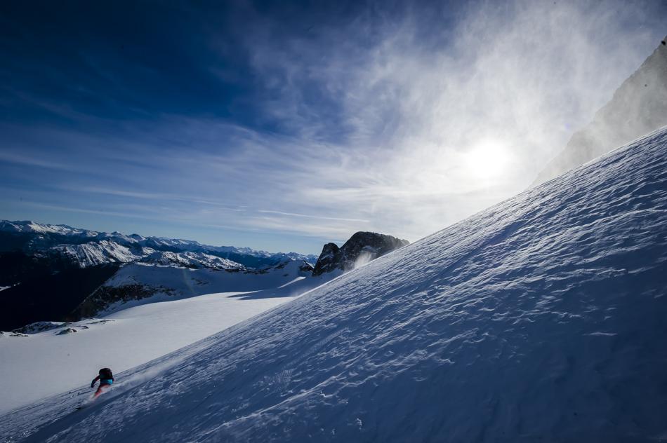 Heli-skiing near Whistler, BC. Photo: Bruno Long