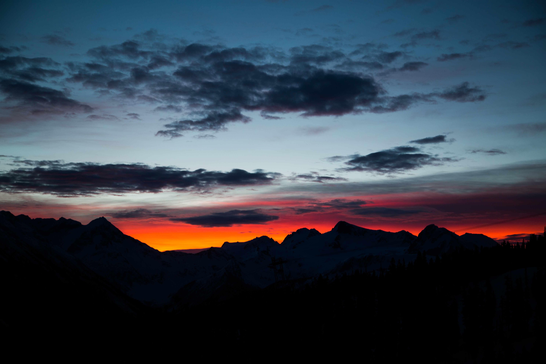 Sunrise on Whistler Blackcomb during Fresh Tracks breakfast - whistler #skibc