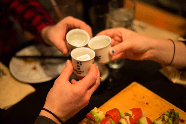 Sake at Sushi Village in Whistler. Photo: Zoya Lynch