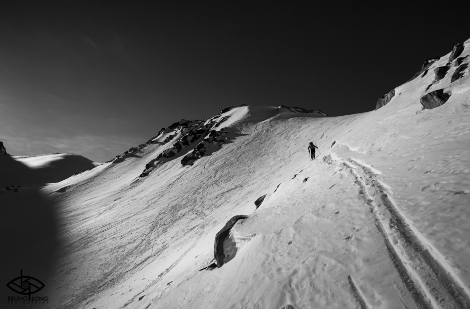 Backcountry skiing with Extremely Canadian in Whistler, BC. Photo: Bruno Long