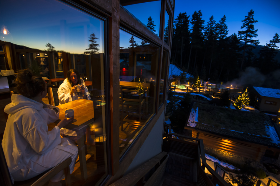 Scandinave Spa in Whistler, BC. Photo: Bruno Long