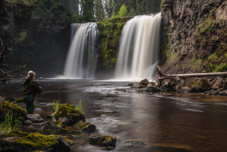 Moffat Falls in the Cariboo near Horsefly
