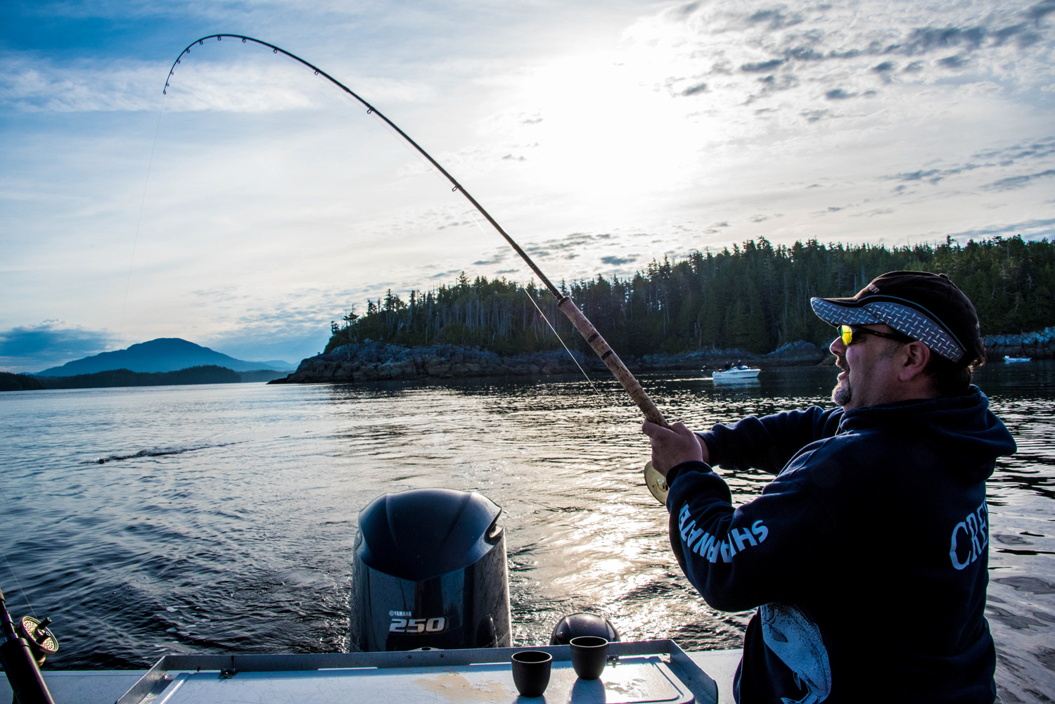Salmon fishing near Shearwater, on BC's central coast