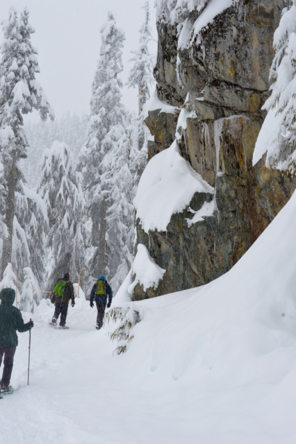 Snowshoeing at Grouse Mountain in North Vancouver. Photo: SYinc