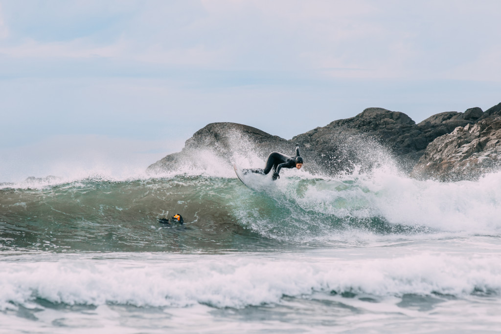 Surfing in Tofino.