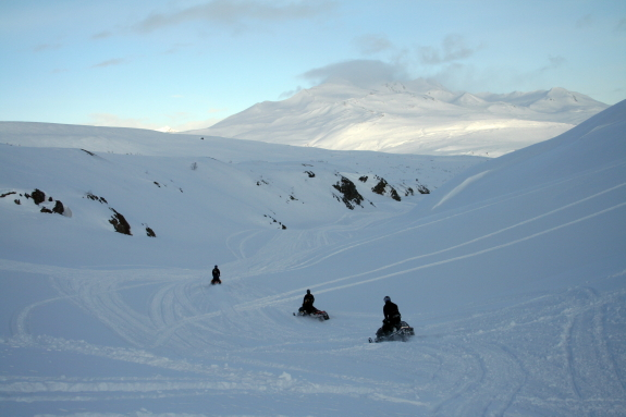 Spring snowmobiling in the Haines Summit area
