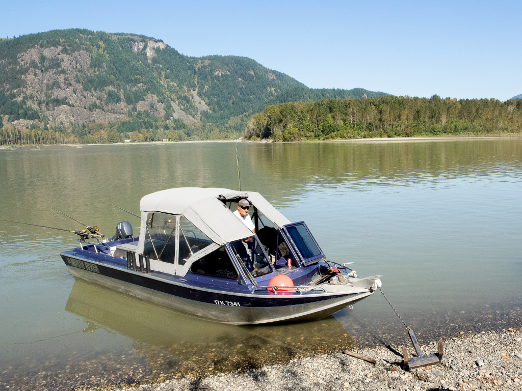 Great River Fishing boat on the Fraser River in Chilliwack