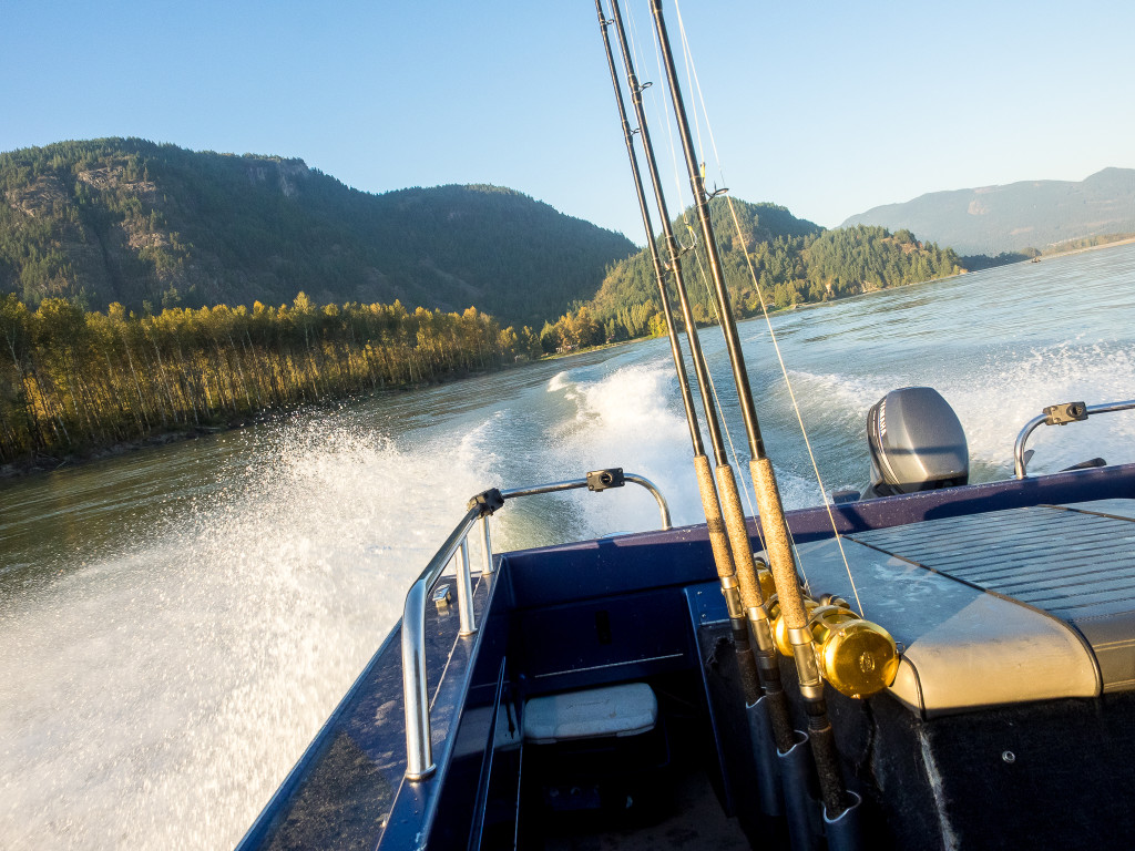 Fishing boat on the Fraser River in Chilliwack