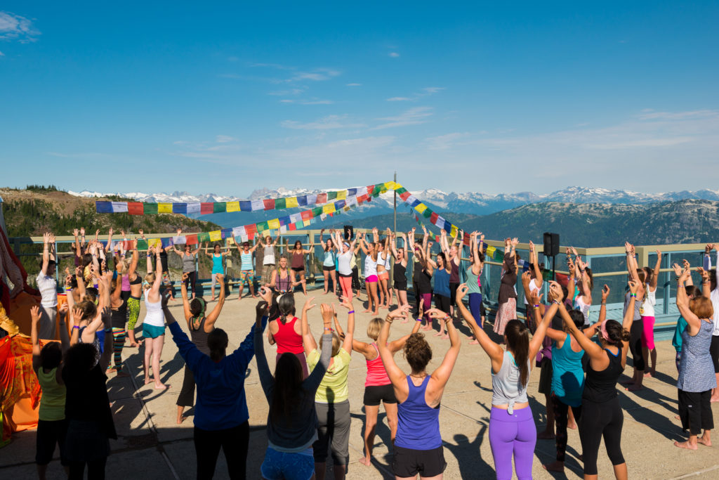 Mountain-top yoga at Wanderlust Festival.
