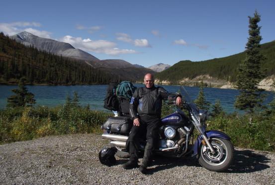Motorcycle at Summit Lake, BC