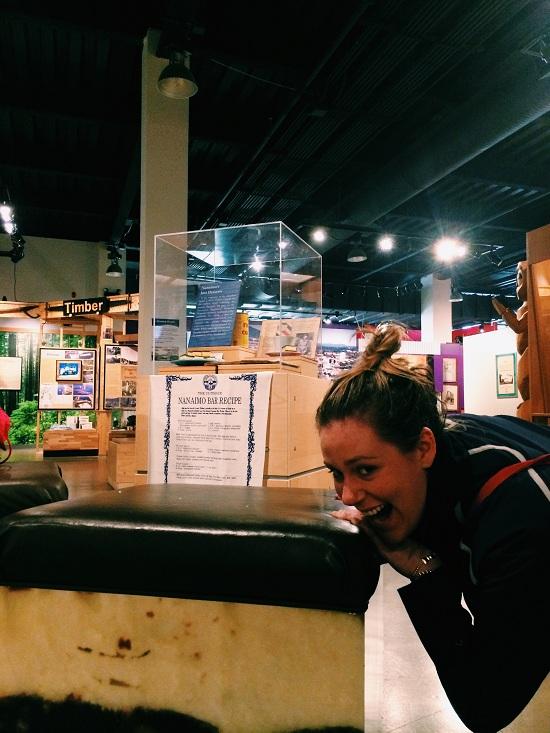"""The """"Nanaimo Bar Stools"""" at the Nanaimo Museum. Photo: Sean Helmn"""
