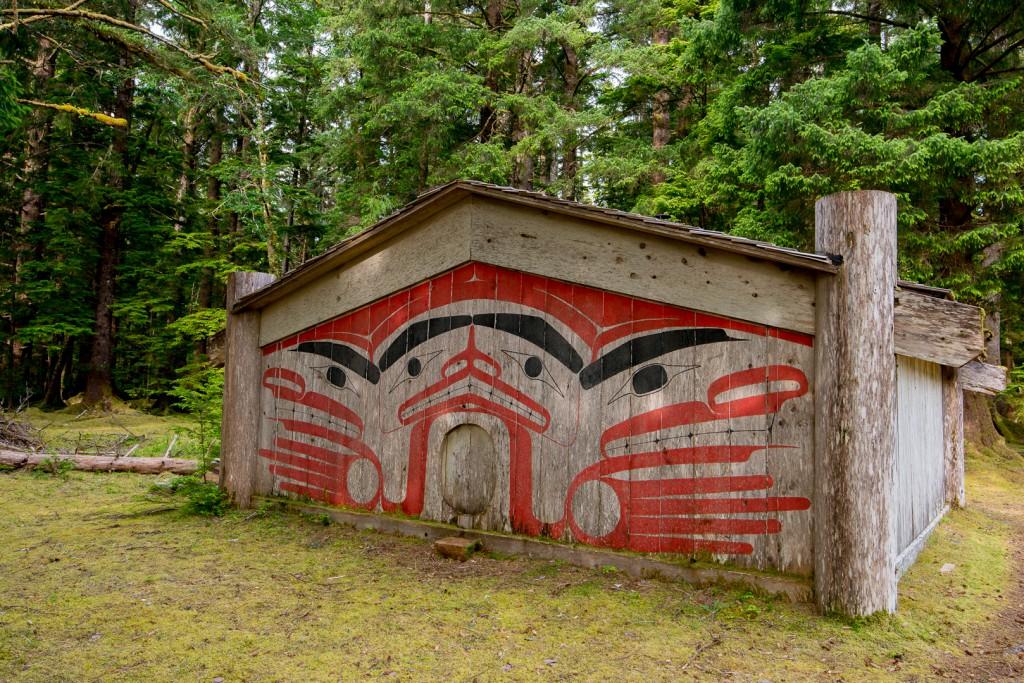 Windy Bay Haida Gwaii Watchman Site, Gwaii Haanas, Haida Gwaii, British Columbia, Canada.
