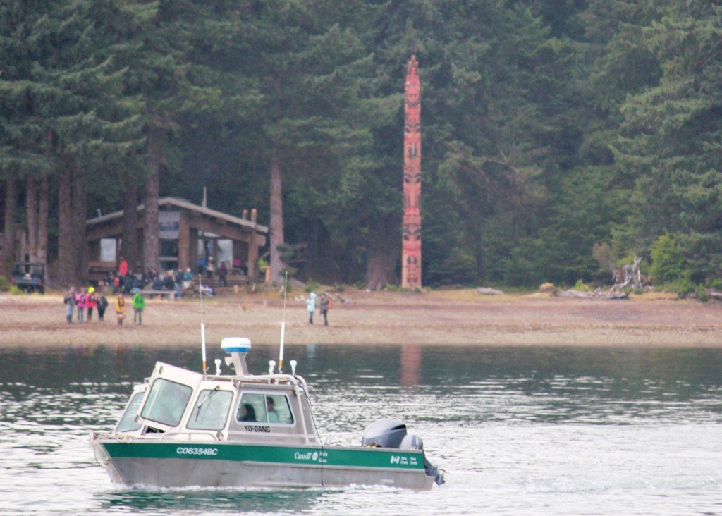 Raising of the Gwaii Haanas Legacy Pole in Haida Gwaii, BC