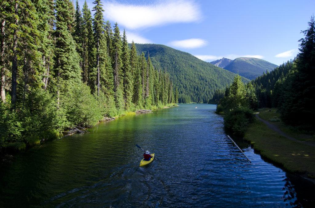 Kayaking in E.C Manning Provincial Park. Photo: Darren Robinson