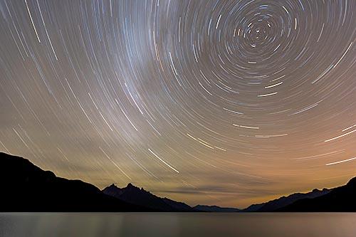 The North Star over Chilco Lake