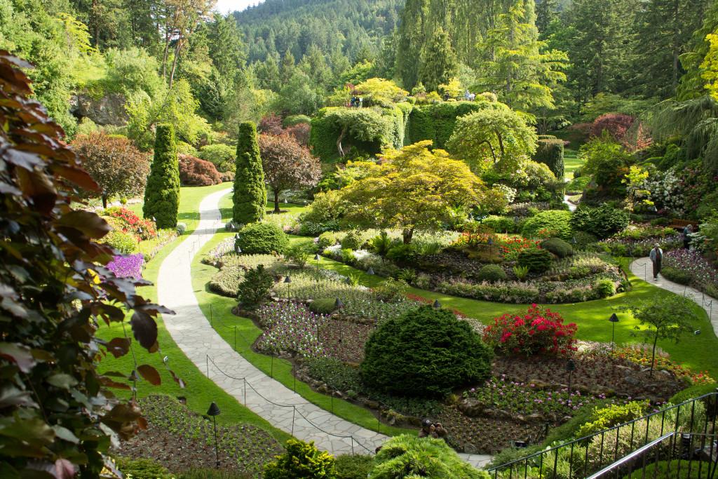 The Sunken Garden at Butchart Gardens, Victoria, BC