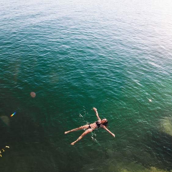 Floating in Kalamalka Lake near Vernon.