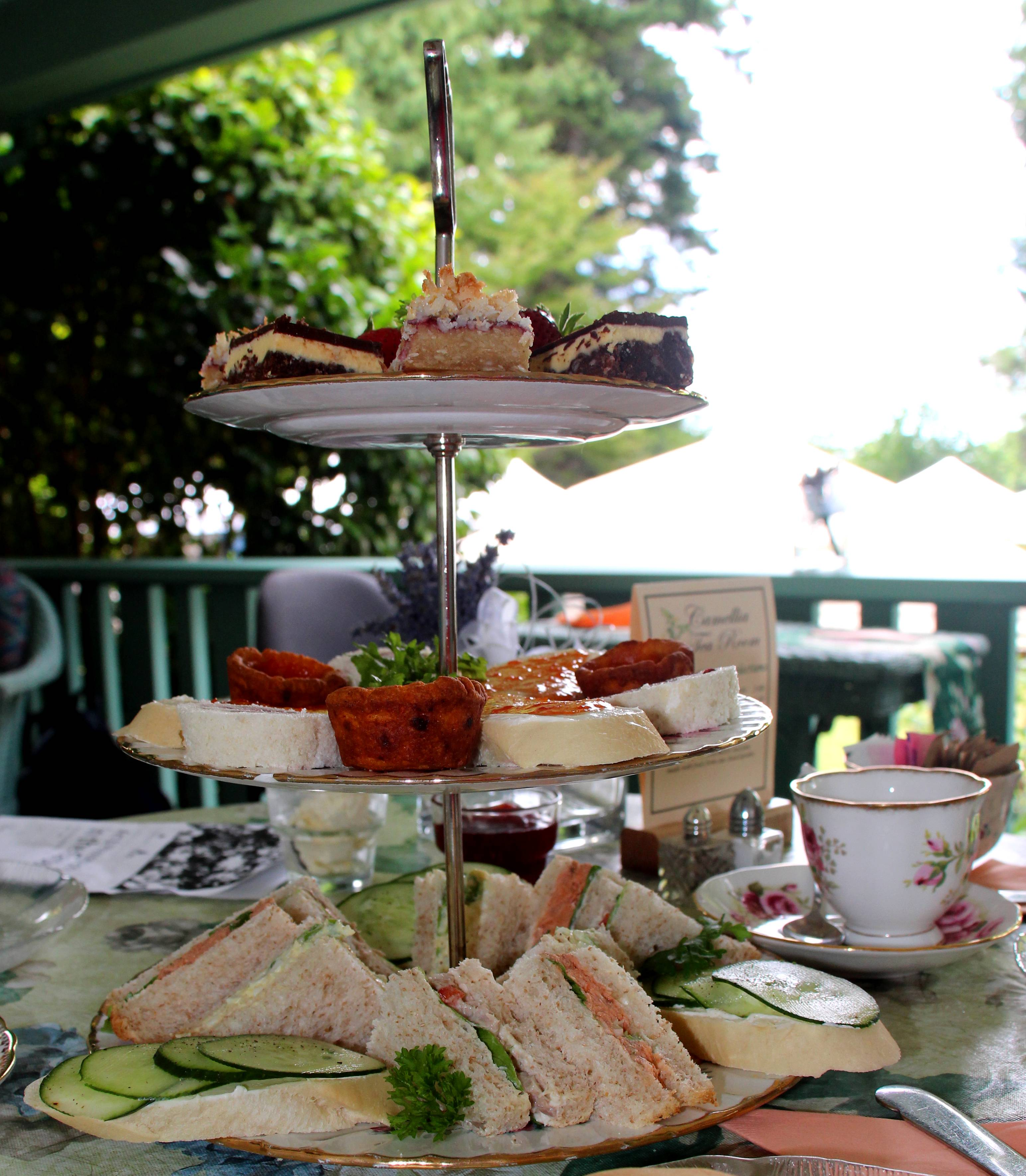 High tea at Milner Gardens and Woodland in Qualicum Beach on Vancouver Island