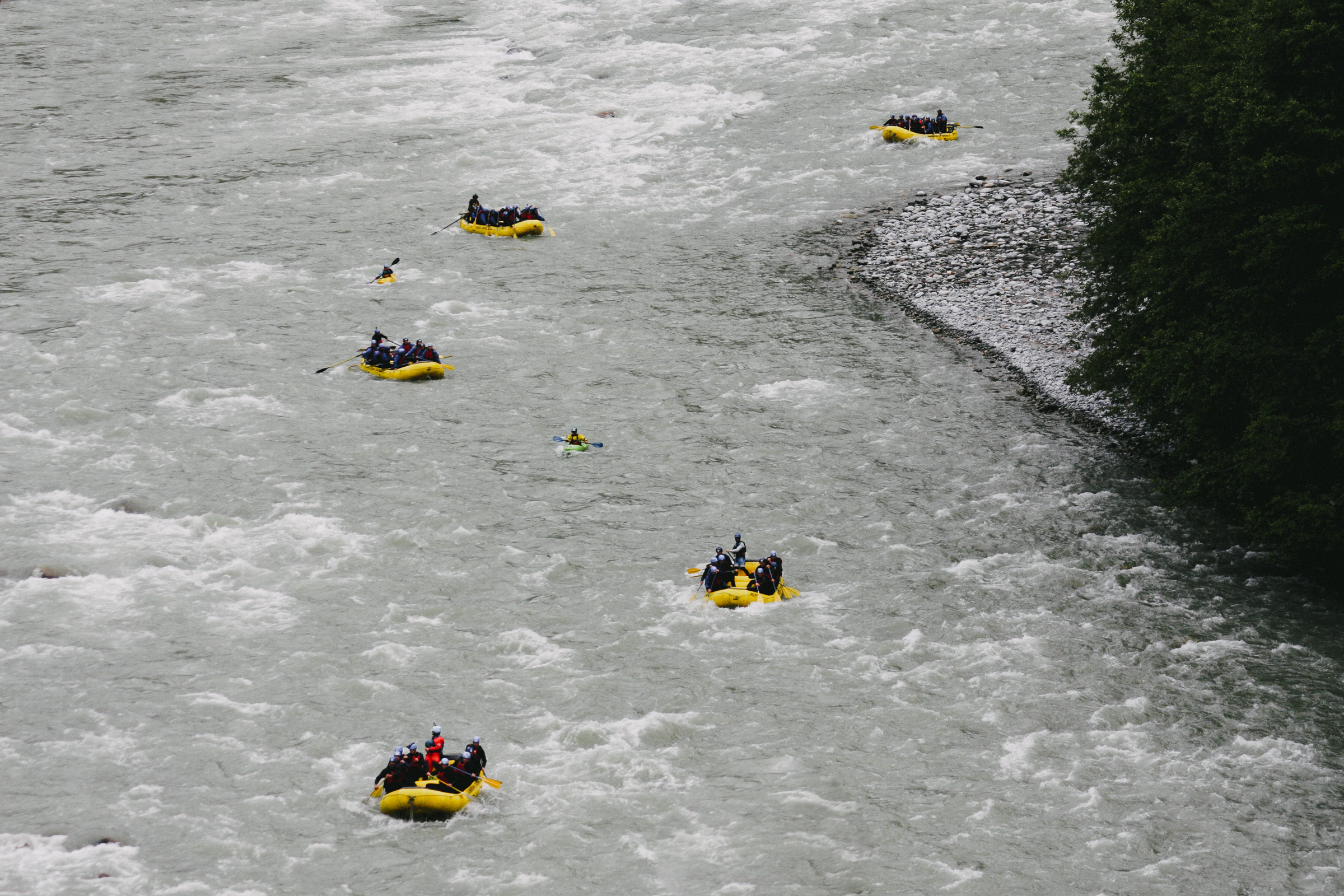 Rafting down the Elaho, Squamish BC