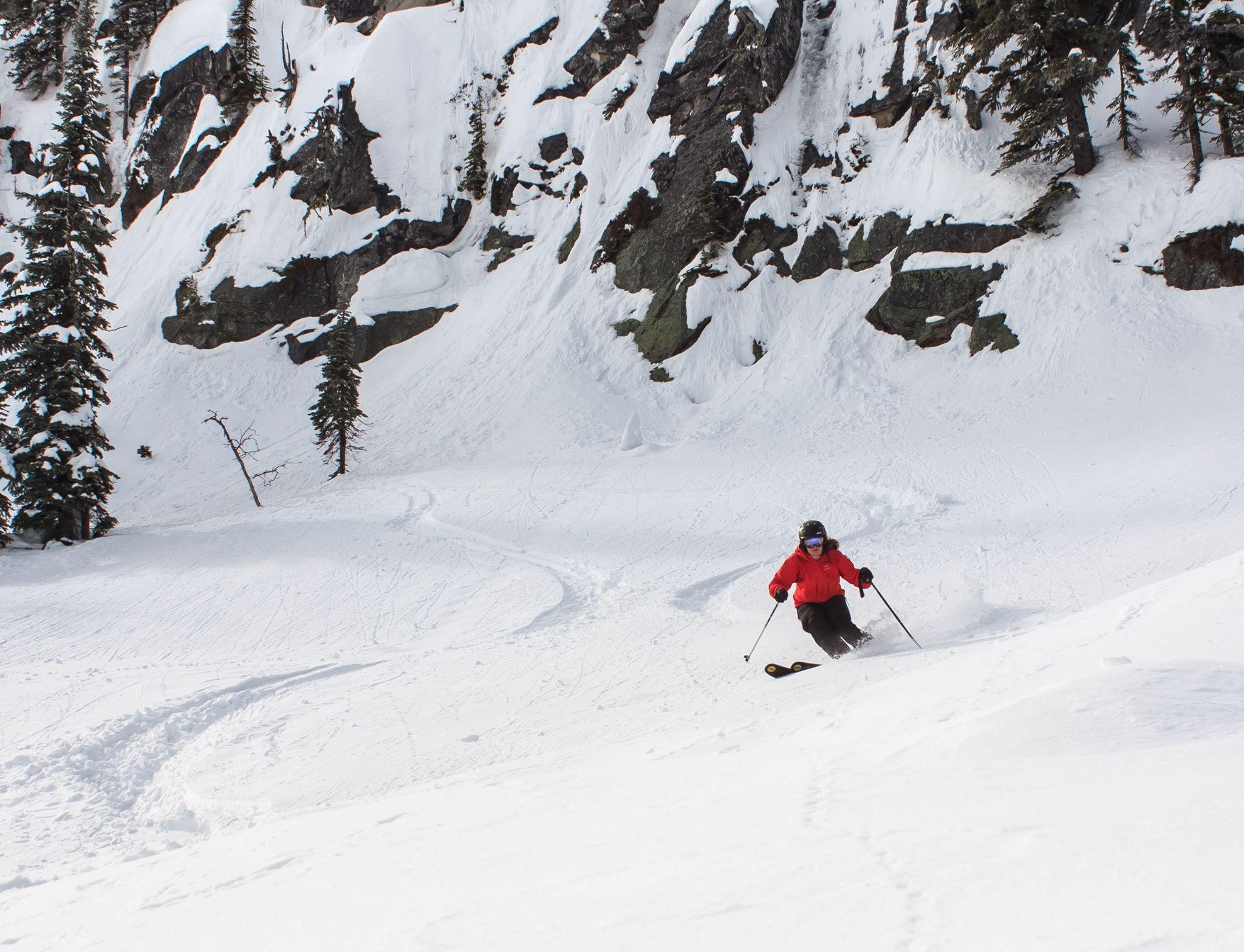 Fresh powder turns at Whitewater Ski Resort in Nelson. Photo: Gina Bégin