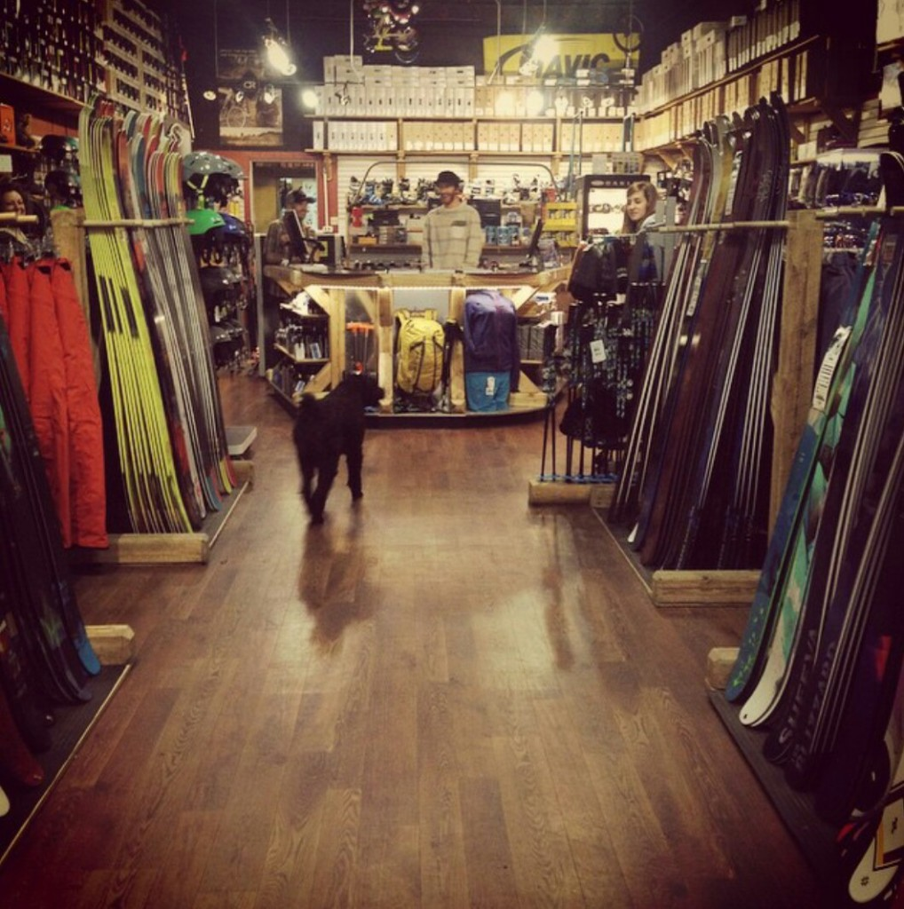 Skookum Ski shop in downtown Revelstoke. Photo: Skookum