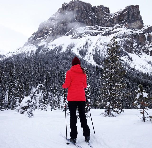 Cross-country skiing at Yoho National Park in Field, BC