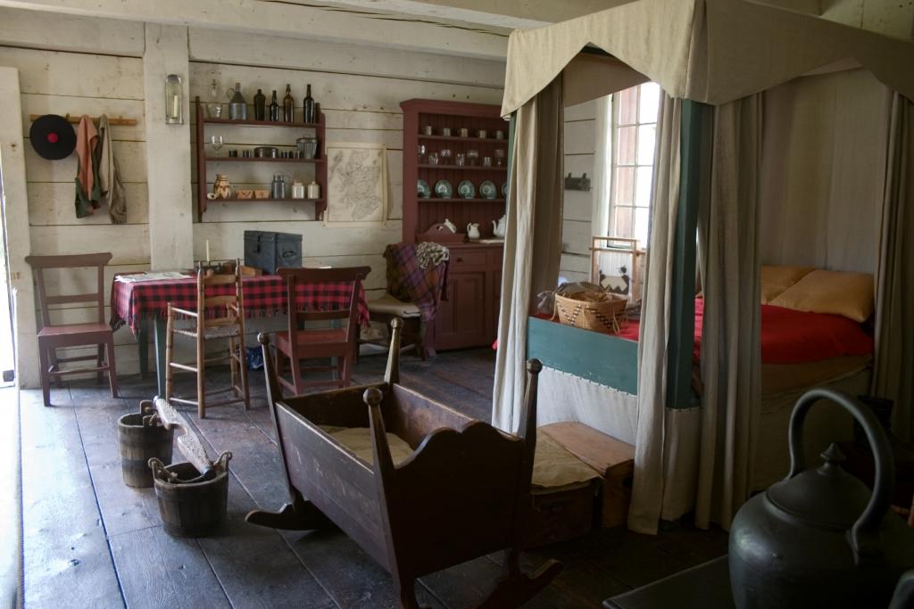Interior of a heritage building at Fort Langley National Historic Site, near Langley