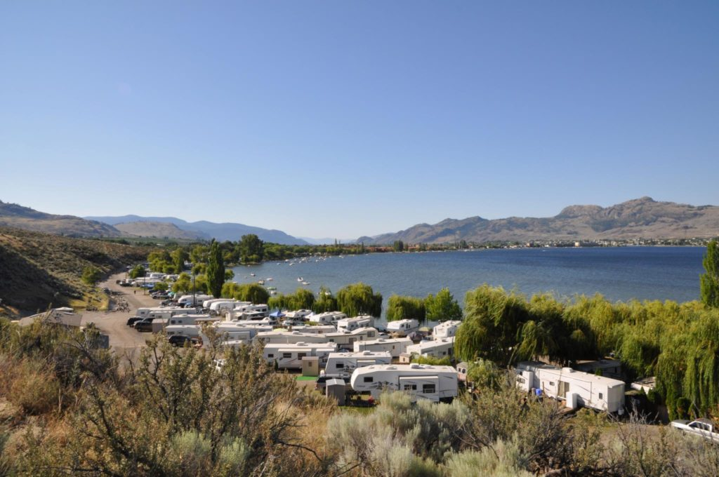 Nk'Mip RV Park and Campground is situated on the shores of Osoyoos Lake.