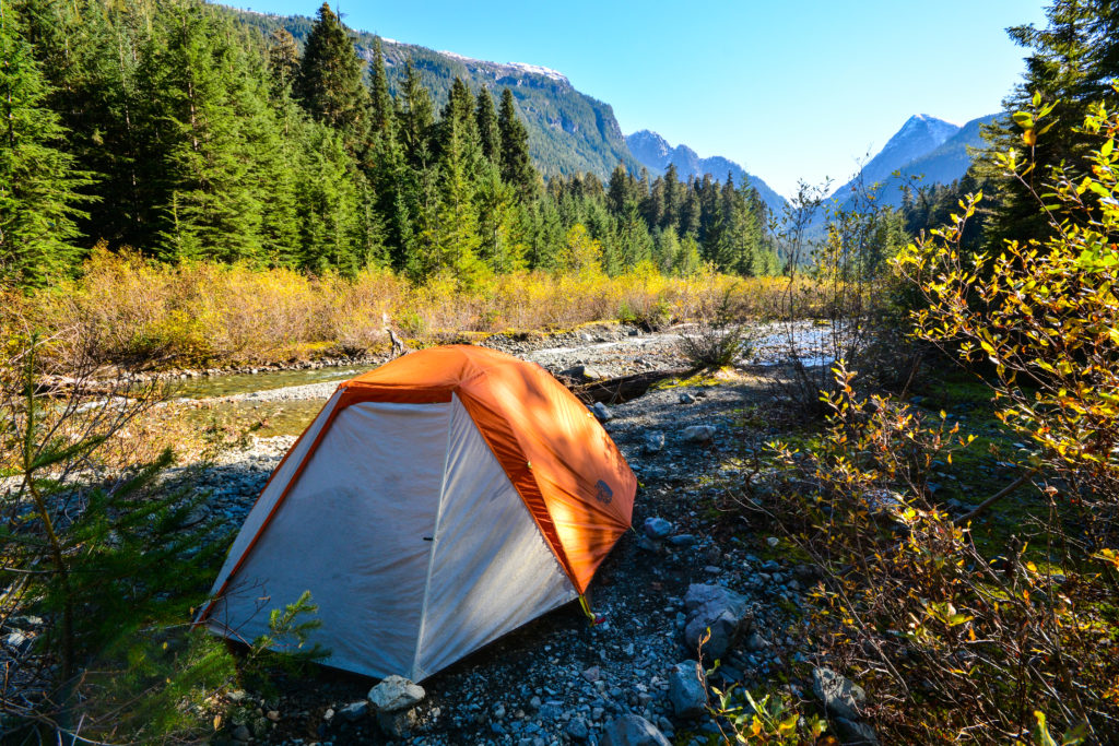 Camping in Strathcona Provincial Park.