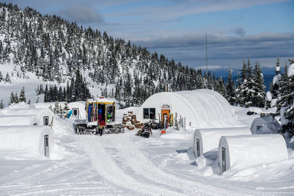 Canada's first backcountry cat-skiing base camp.