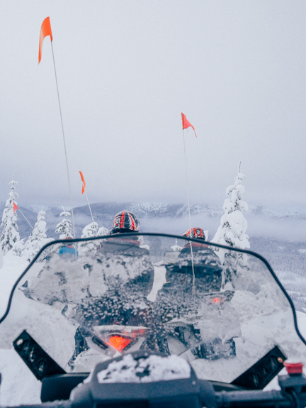 The Yukon Breakfast Snowmobile Tour with Canadian Wilderness Adventures in Whistler. Photo: Caley Vanular
