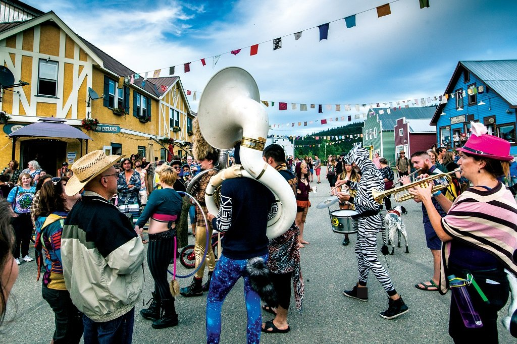 Wells has one of the region's coolest summer cultural festivals, the ArtsWells Festival of All Things Arts. Photo: Thomas Drasdauskis