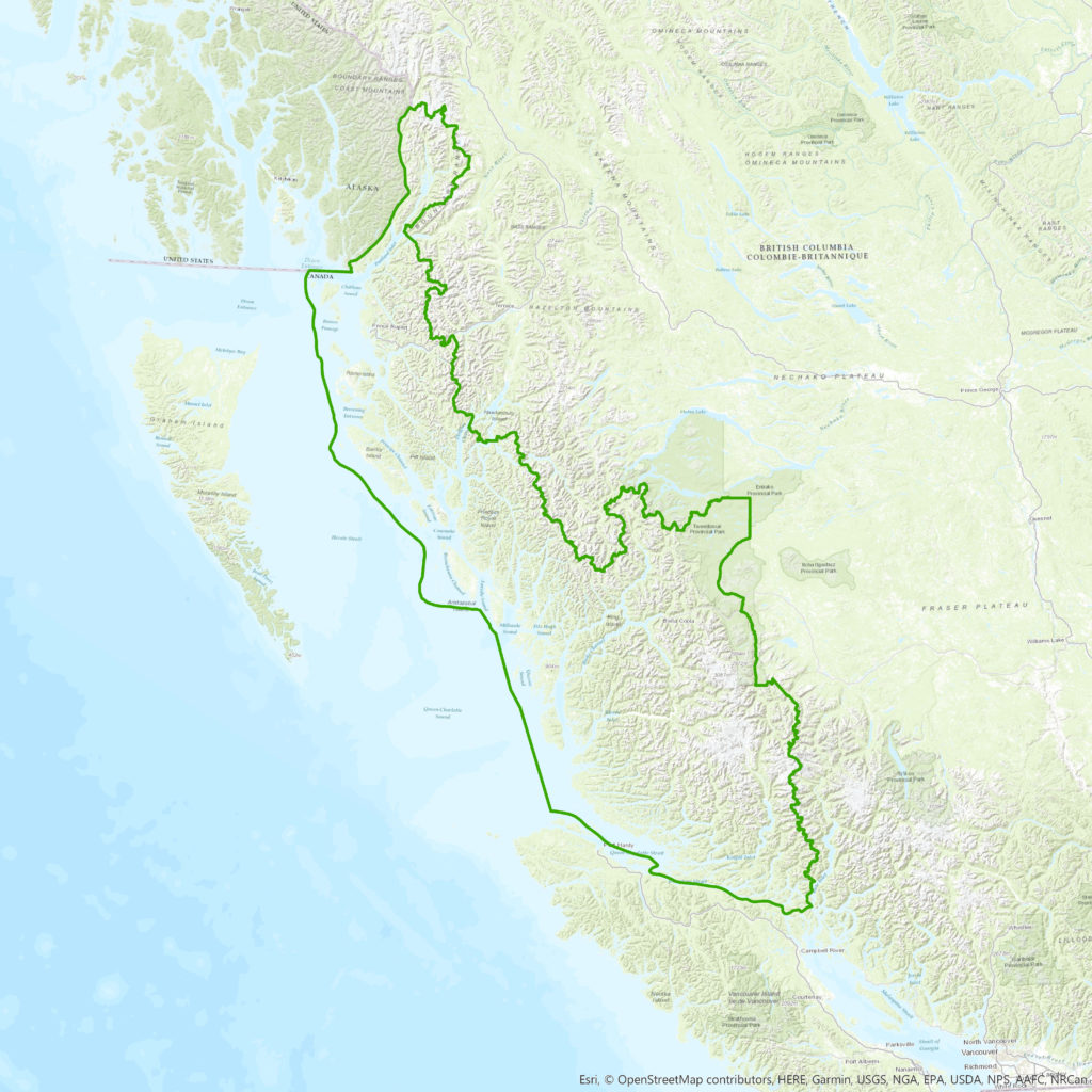 Great Bear Rainforest Map, British Columbia