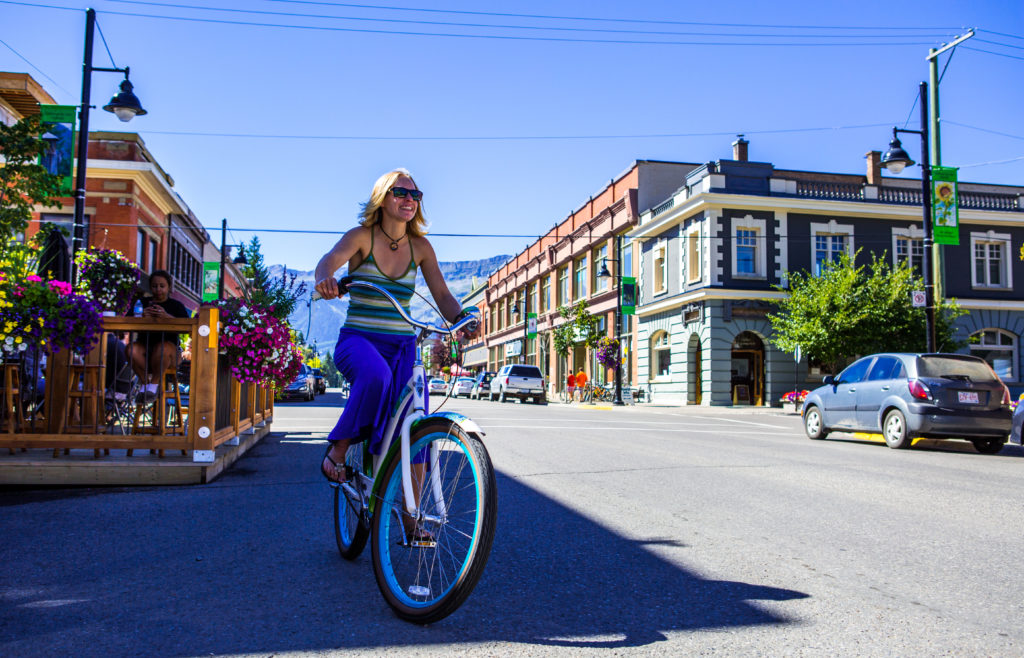Historic downtown Fernie in summer