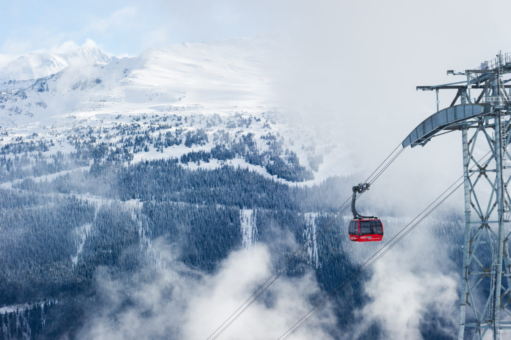 Whistler Blackcomb views and the PEAK 2 PEAK Gondola.