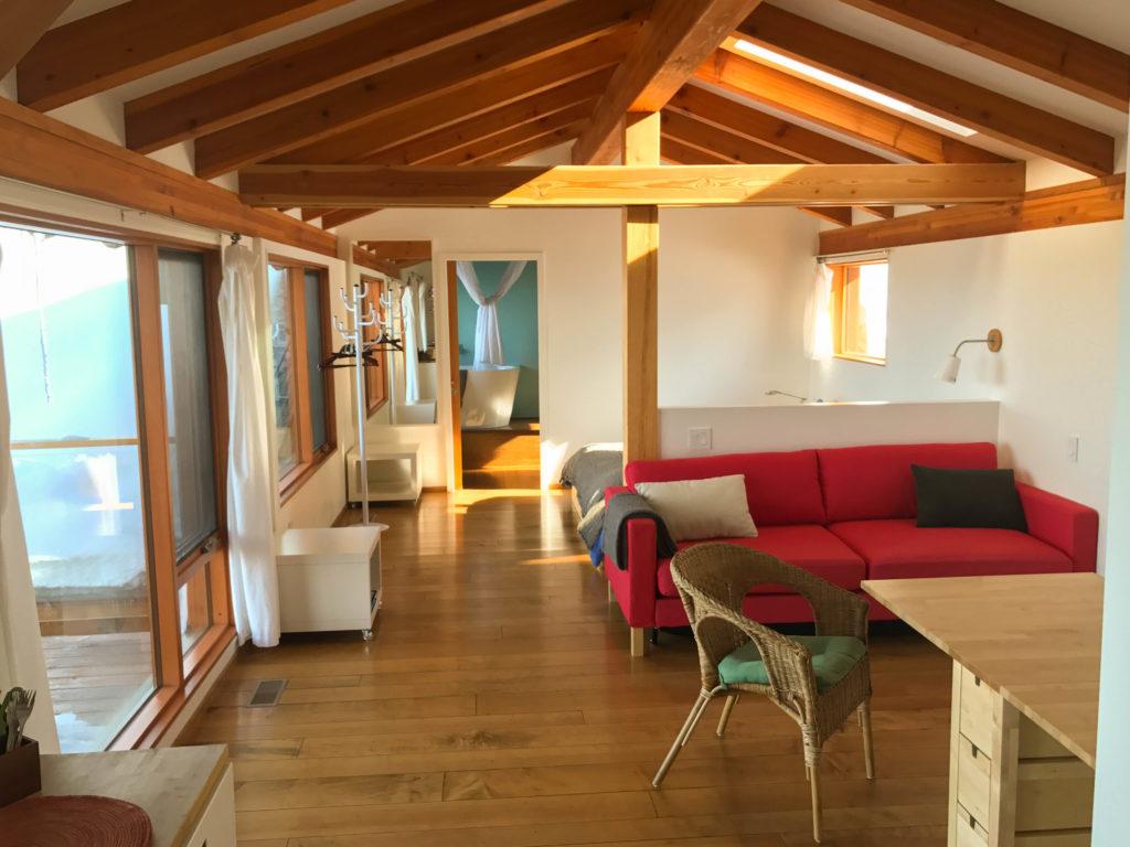 The Studio Eagles Nest at Myra Canyon Lodge, near Kelowna.
