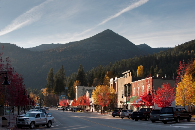Downtown Rossland BC